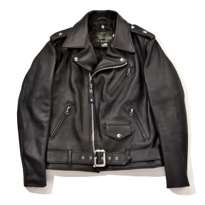 SCHOTT PERFECTO X LIGHTNING LIMITED EDITION LEATHER JACKET BLACK